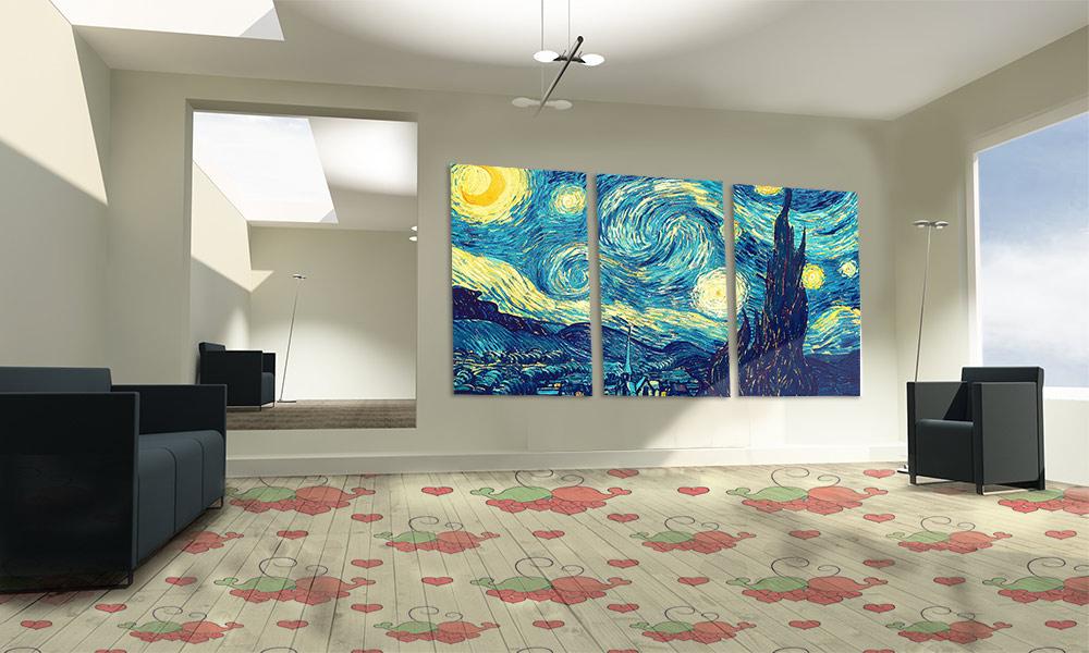 Vloer naadloos patroon print vloeren voor gepersonaliseerde