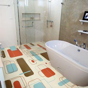 vinyl vloer badkamer